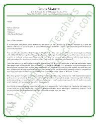 Resume Letter For Teacher Job Middle School English Teacher Resume