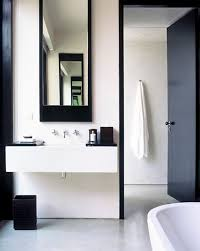 black and white bathroom amansara
