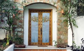 glass front doors. Double Entry Doors Etched Glass Rustic Decor Lake Scene Mountain Landscape Geese Birds Front E