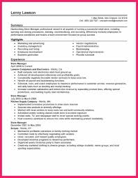 Retail Store Manager Resume Bio Letter Format
