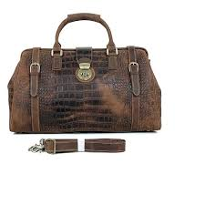 bag crocodile travel luggage men duffle overnight duffel leather bags high quality pattern women hand weekender