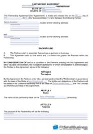 How To Create A Business Partnership Agreement Free Template