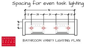 overhead vanity lighting. Lighting Design, Symbols, Task At Bathroom Vanity Overhead 6