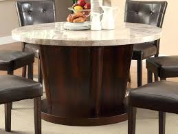 round marble dining table set dining round marble dining table top with wooden base plus brown leather dining marble top round dining table set