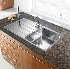 Kitchen  Surprising Kitchen Sinks For Granite Countertops And Kitchen Counter With Sink