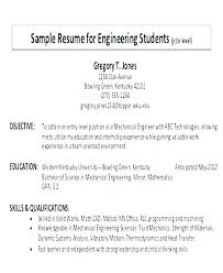 Resume Objectives Examples For Students Blaisewashere Com
