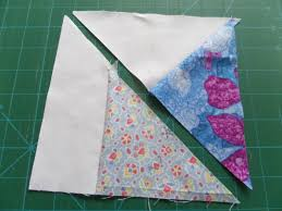Flying Kite Quilt Block Pattern - Ludlow Quilt and Sew & Sew the triangles in pairs Adamdwight.com