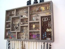 jewelry wall rack jewelry holder organizer org pertaining to wall remodel jewellery holder wall mounted