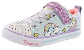 Skechers Light Up Unicorn Shoes Skechers Twinkle Toes Girls Strap Light Up Shoes Unicorn