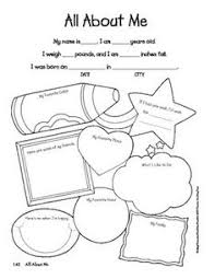 Use This All About Me Sheet As A Beginning Of Year Activity