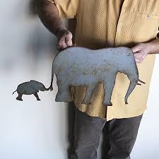 elephant metal wall art home decor