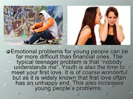 the problems of teenagers  9