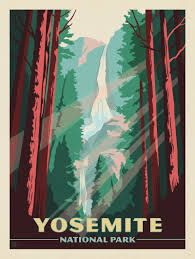 National Parks Posters Anderson Design Group Yosemite National Park Anderson Design Group