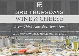 wine cheese at our manhasset showroom