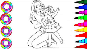Learn Colors L Disney S Barbie And Chelsea On Foot Stool Coloring