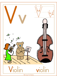 Letter V Violin Theme Lesson Plan