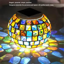 Us 20 37 29 Off Solar Powered Mosaic Glass Waterproof Rechargeable Light Colorful Small Broken Glass Solar Street Light Dropship 6 29 In Solar Lamps
