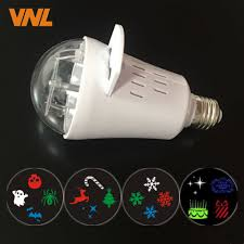 Slide Projector Light Bulbs Us 9 79 30 Off New 12 Patterns Mini Colorful Halloween Led Projector Lights Indoor Christmas For Birthday Party Holiday Disco Stage Lamp Bulbs In