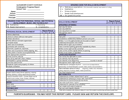 Report Card Template Development Status Report Template Awesome Kindergarten Report Card 11