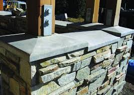 concrete countertop on an outdoor kitchen wall