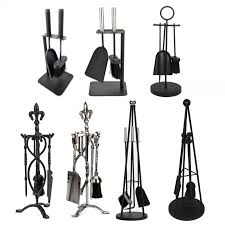 crafters companion set black pewter fireplace cast iron brush shovel tools