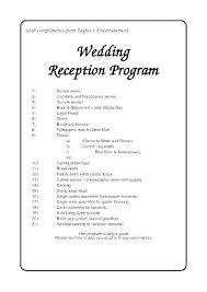 Wedding Reception Program Templates Wedding Ceremony Outline Samples Sample Program Template Format
