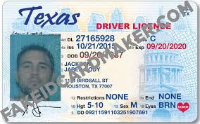 Maker Id Drivers - License Texas Card Virtual Fake