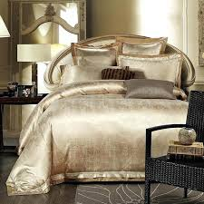 white duvet cover set single gold white blue jacquard silk bedding set luxury 4pcs satin bed