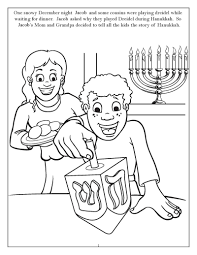 Hanukkah Coloring Pages Dreidle Telematik Institutorg
