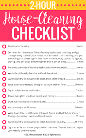 Cleaning Checklist Tumblr