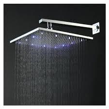 modern shower heads. Plain Modern Modern Shower Heads Inch Chromed Brass Square Led Rainfall Head Fixtures    Throughout Modern Shower Heads O