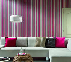 Wallpapered Living Rooms Colourful Living Room Wallpaper Design Hupehome