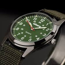 infantry watch mens quartz wristwatches luminous military green infantry watch mens quartz wristwatches luminous military green fabric sainaluv