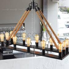 industrial loft lighting. Norton Industrial Loft Rope Rectangle Pendant Lamp Lighting T