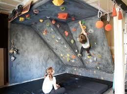 diy rock climbing wall kids home