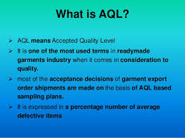 Acceptance Sampling Acceptable Quality Level