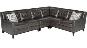 leather sectional living room furniture. Reina Gray Leather 4 Pc Sectional Living Room Furniture