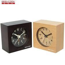 retro modern alarm clock silent table wooden alarm clock desktop clock art design decor digital modern