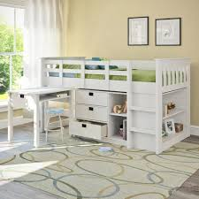 corliving madison twin loft bed with desk and storage multiple colors com