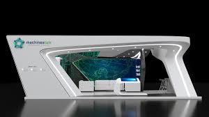 Boothe Design Machines Talk Booth Design On Behance