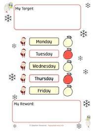 5 Day Reward Chart Santa Reward Systems