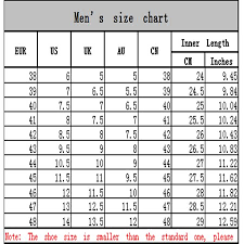 Sport Shoe Size Chart New Fashion Mens Breathable Outdoor Sports Shoes Athletic Running Casual Sneakers
