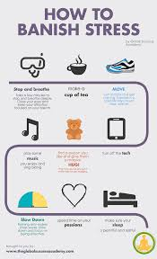 proven strategies for reducing stress banish stress infographic