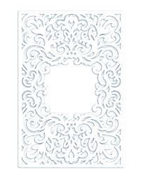 Half Fold Card Template Cameo Wedding Invitations Fold Wedding Invitation Card Silhouette