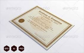 Certificate Template Photoshop Download Download Course Completion Certificate Template Photoshop