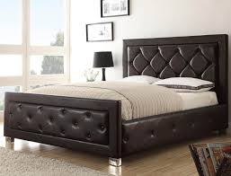 Low Profile Bedroom Furniture Furniture Low Profile Bed With Leather Upholstered Headboard And