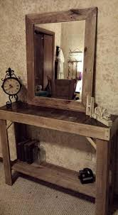 furniture for entryway. Pallet Entryway Table With Mirror Furniture For