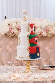 Two Sided Wedding Cake Elegant Side With Ninja Turtle Side