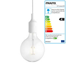 socket e27 led pendant luminaire from muuto in white
