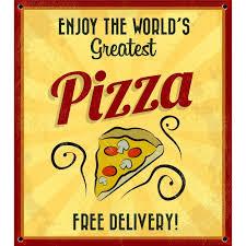 Урожай <b>постер</b> наибольшей пиццы | Бесплатно векторы